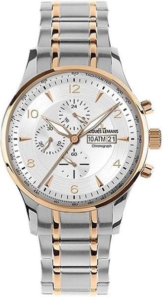 1-1844L  мужские кварцевые наручные часы Jacques Lemans  1-1844L