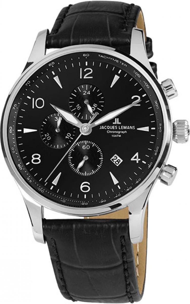 1-1844ZA  мужские кварцевые часы Jacques Lemans  1-1844ZA