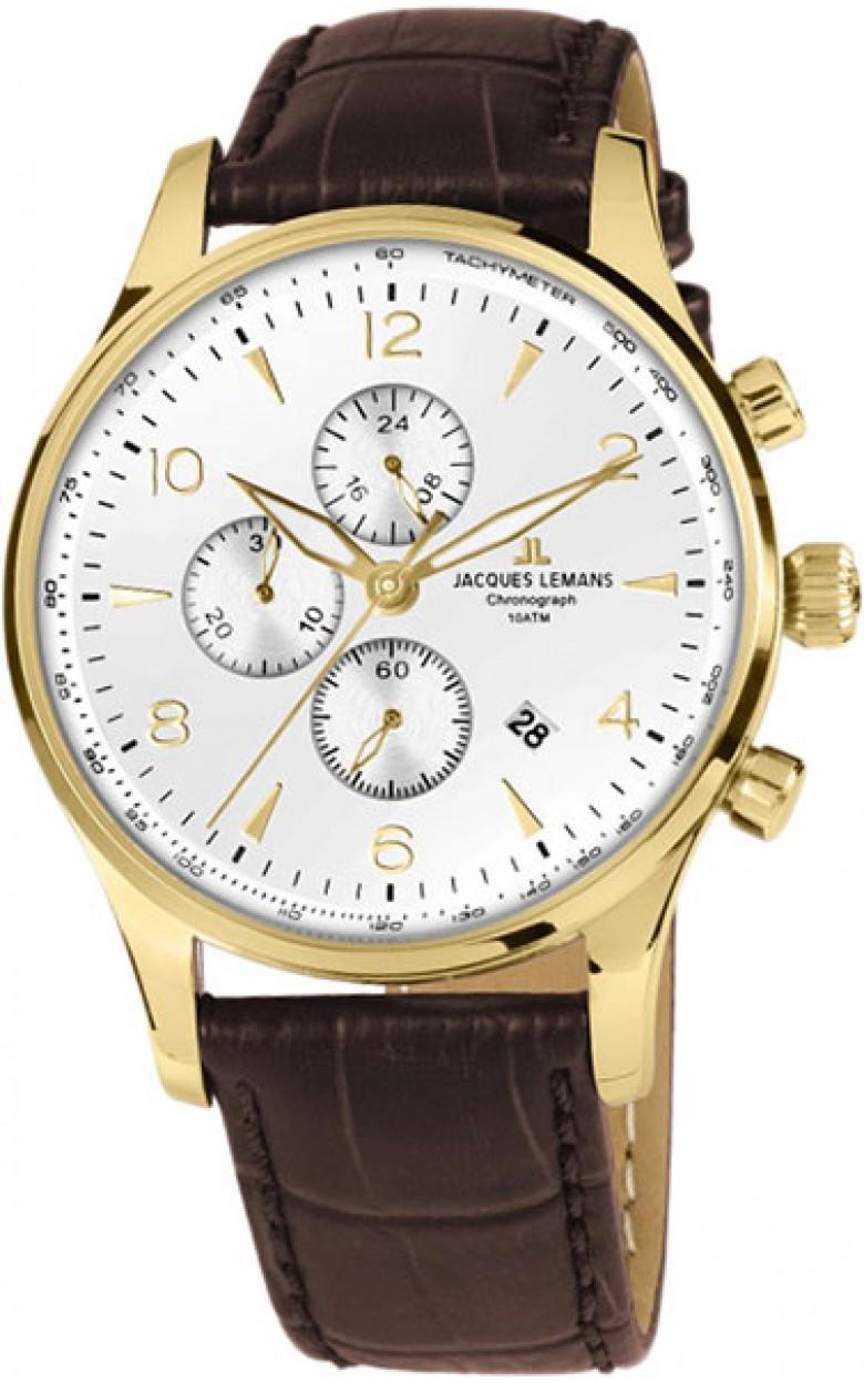 1-1844ZD  мужские кварцевые наручные часы Jacques Lemans  1-1844ZD