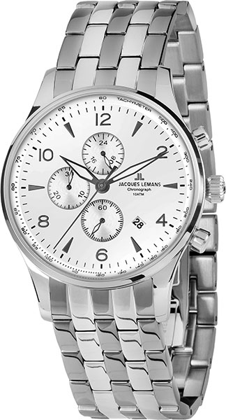 1-1844ZF  кварцевые наручные часы Jacques Lemans для мужчин  1-1844ZF