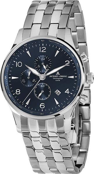 1-1844ZG  кварцевые наручные часы Jacques Lemans для мужчин  1-1844ZG