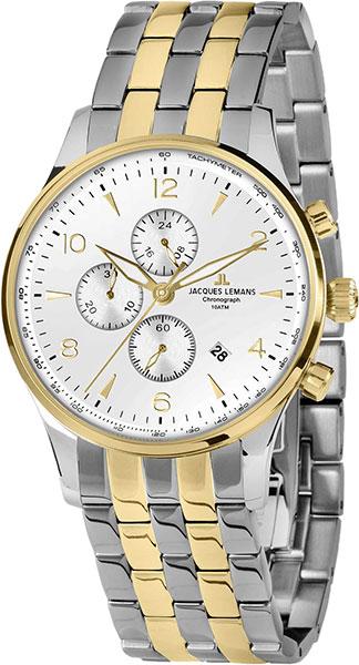 1-1844ZH  кварцевые наручные часы Jacques Lemans для мужчин  1-1844ZH