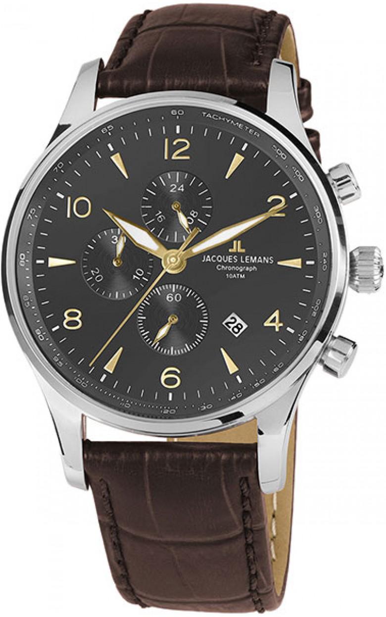 1-1844ZJ  кварцевые наручные часы Jacques Lemans для мужчин  1-1844ZJ