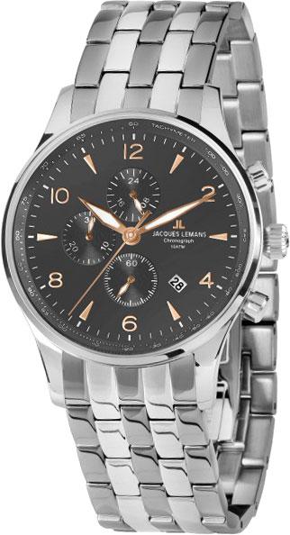 1-1844ZL  мужские кварцевые наручные часы Jacques Lemans  1-1844ZL