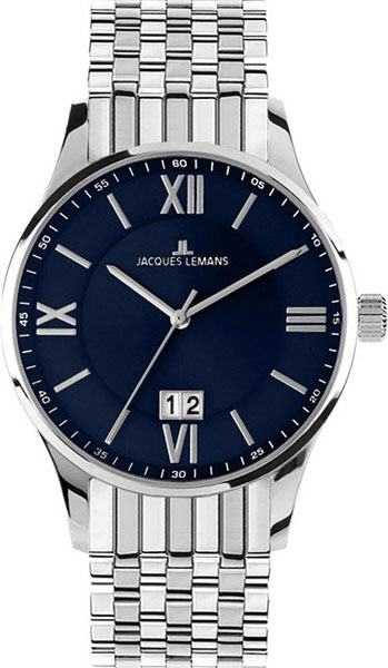 1-1845J  мужские кварцевые наручные часы Jacques Lemans  1-1845J