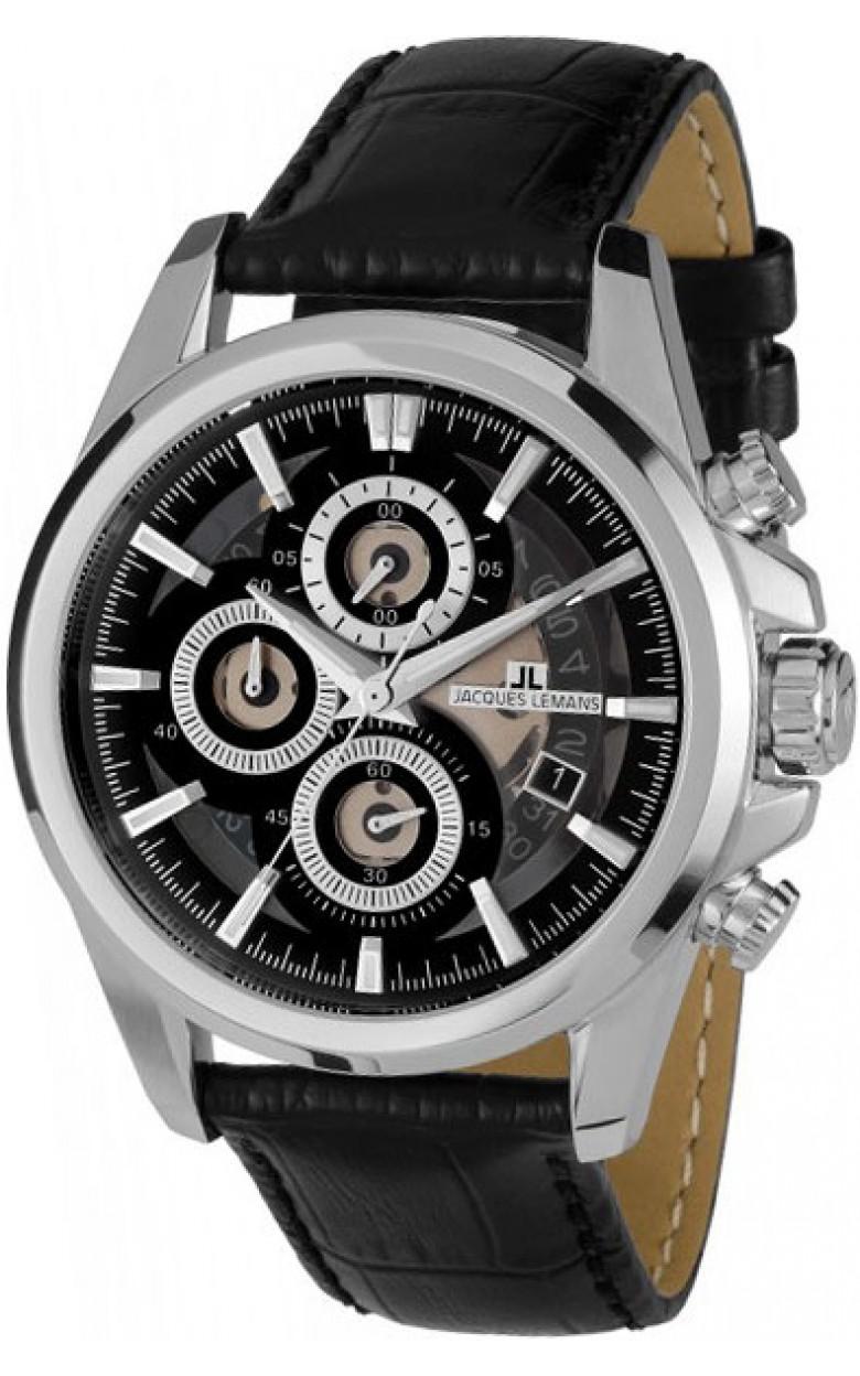 1-1847A  мужские кварцевые наручные часы Jacques Lemans  1-1847A