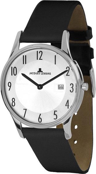 1-1850B  унисекс кварцевые наручные часы Jacques Lemans  1-1850B