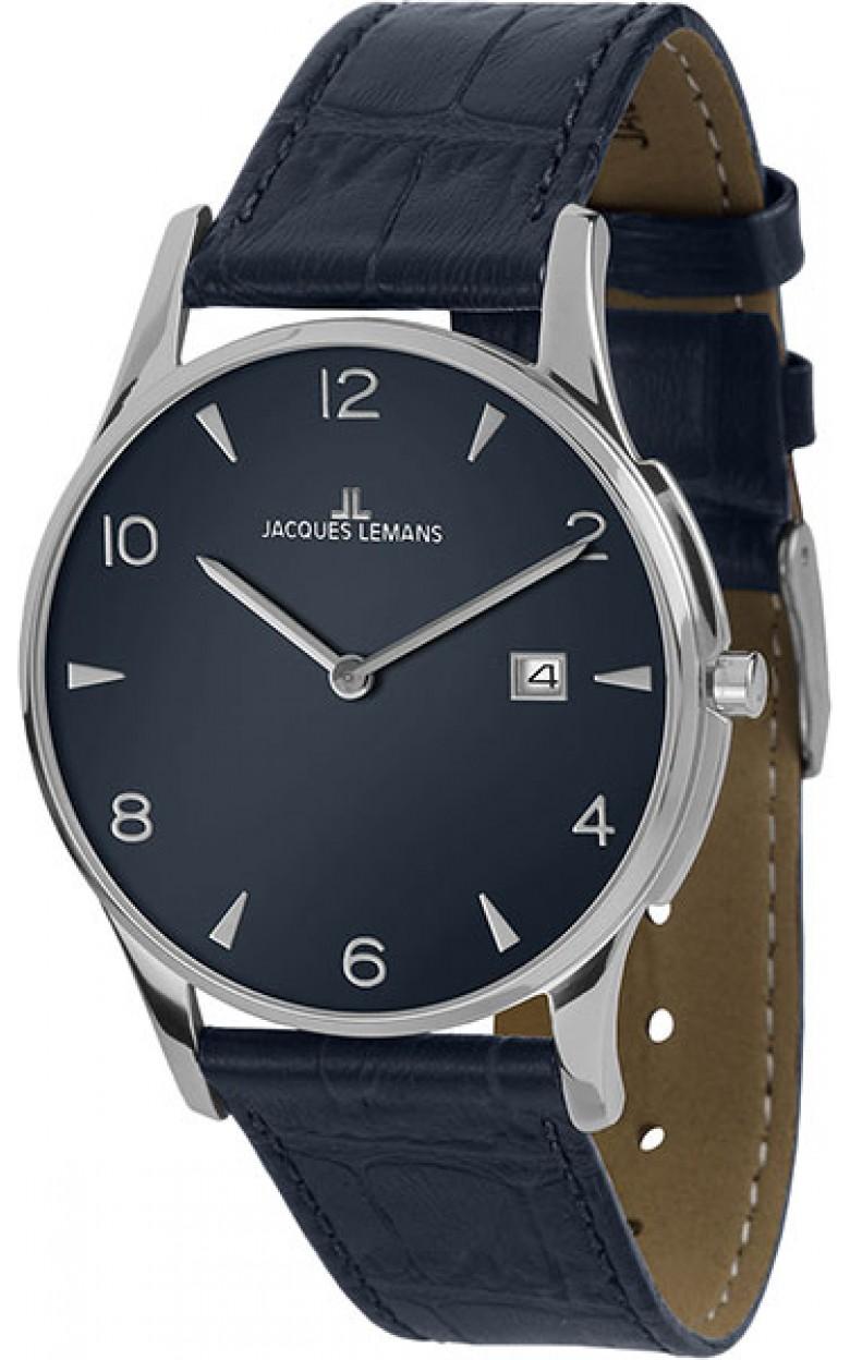 1-1850ZC  унисекс кварцевые наручные часы Jacques Lemans  1-1850ZC