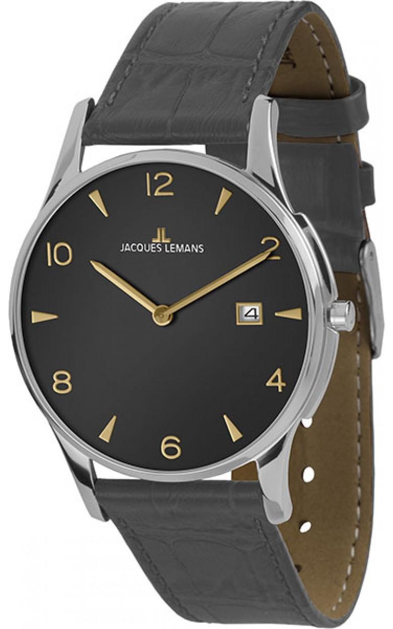 1-1850ZE  унисекс кварцевые наручные часы Jacques Lemans  1-1850ZE