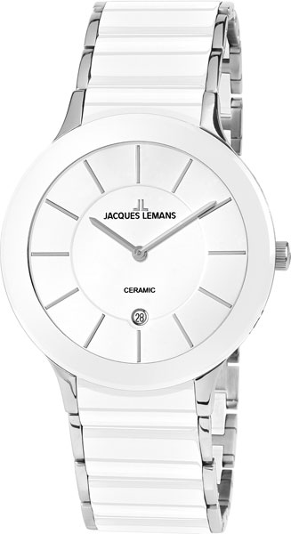 1-1855B  унисекс кварцевые часы Jacques Lemans с упрочненным стеклом 1-1855B