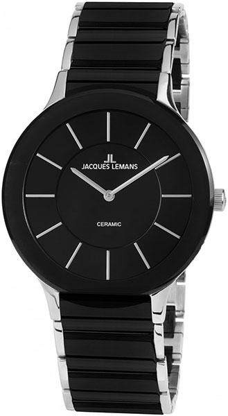 "1-1856A  кварцевые наручные часы Jacques Lemans ""High Tech Ceramic""  1-1856A"