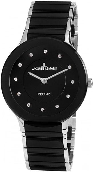 1-1856E  кварцевые наручные часы Jacques Lemans для женщин с упрочненным стеклом 1-1856E