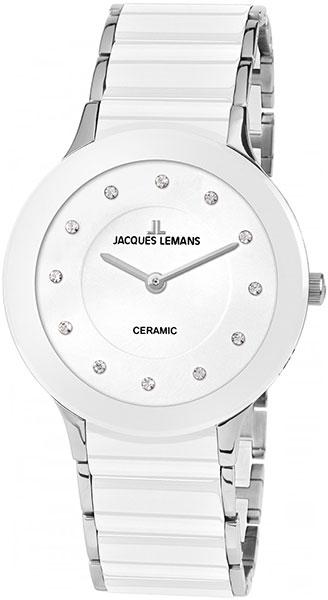 1-1856F  кварцевые наручные часы Jacques Lemans для женщин с упрочненным стеклом 1-1856F