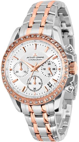 1-1864D  кварцевые наручные часы Jacques Lemans для женщин  1-1864D
