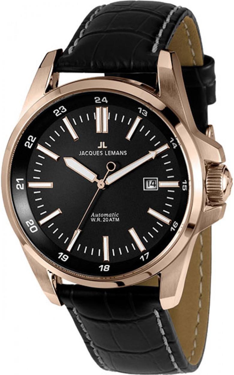 1-1869B  водонепроницаемые мужские механические наручные часы Jacques Lemans  1-1869B