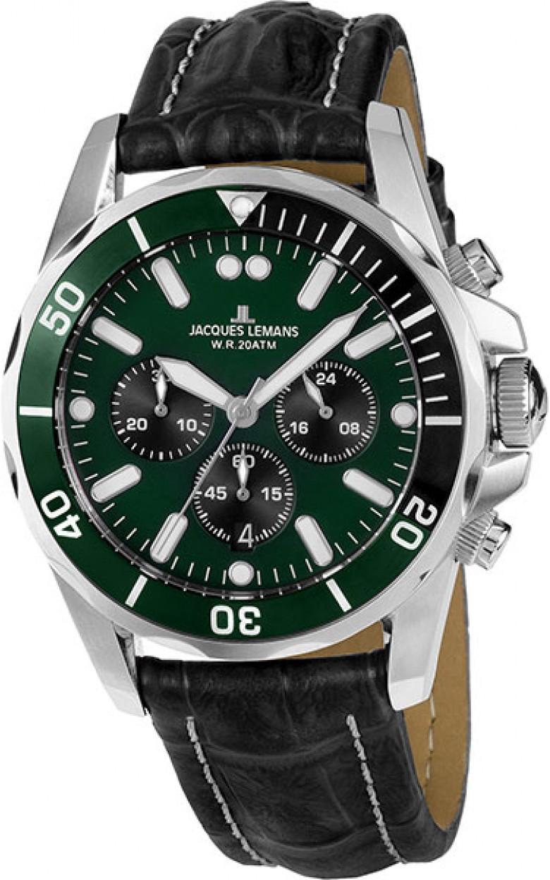 1-1907ZC  водонепроницаемые мужские кварцевые наручные часы Jacques Lemans  1-1907ZC