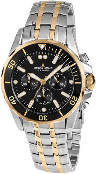 1-1907ZH  водонепроницаемые кварцевые наручные часы Jacques Lemans для мужчин  1-1907ZH