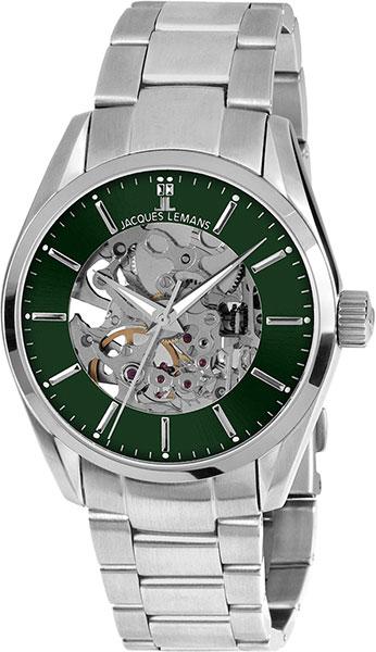 1-1909D  механические наручные часы Jacques Lemans для мужчин  1-1909D