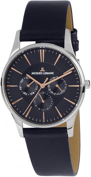 1-1929C  унисекс кварцевые наручные часы Jacques Lemans  1-1929C