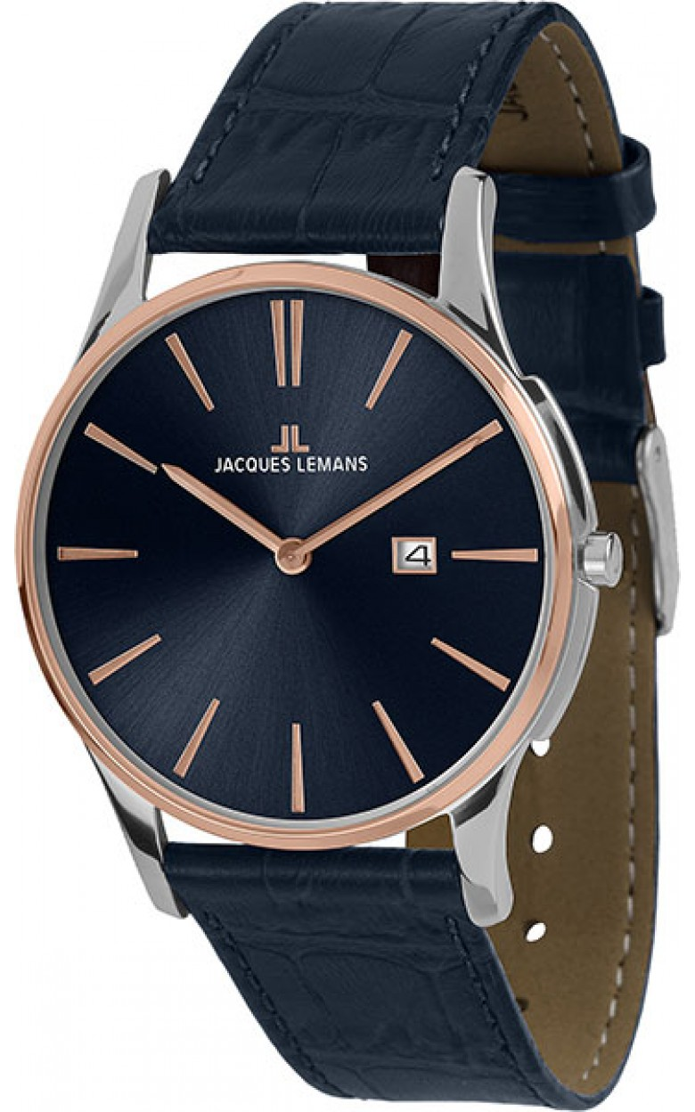 1-1936G  унисекс кварцевые наручные часы Jacques Lemans  1-1936G