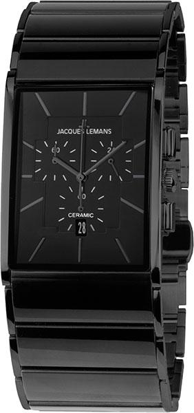 """1-1941C  кварцевые наручные часы Jacques Lemans """"High Tech Ceramic""""  1-1941C"""
