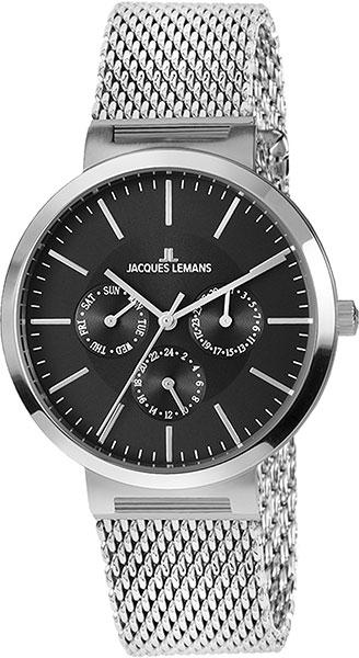 1-1950F  унисекс кварцевые наручные часы Jacques Lemans  1-1950F