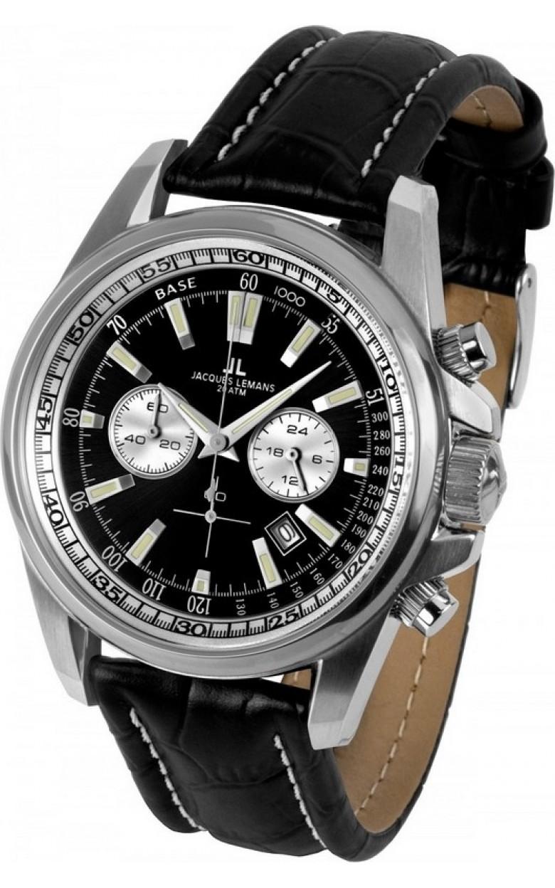 1-1117AN  водонепроницаемые кварцевые наручные часы Jacques Lemans для мужчин  1-1117AN
