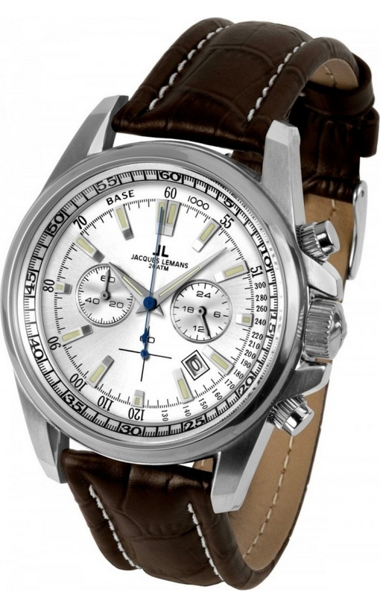 1-1117BN  кварцевые с функциями хронографа наручные часы Jacques Lemans  1-1117BN