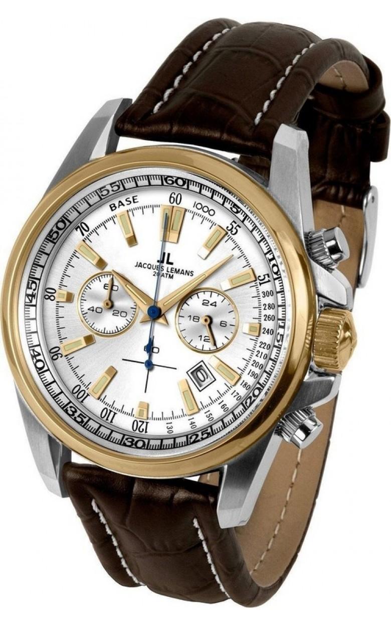 1-1117DN  кварцевые с функциями хронографа часы Jacques Lemans  1-1117DN