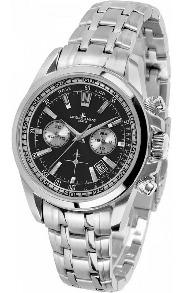 1-1117EN  водонепроницаемые мужские кварцевые наручные часы Jacques Lemans  1-1117EN