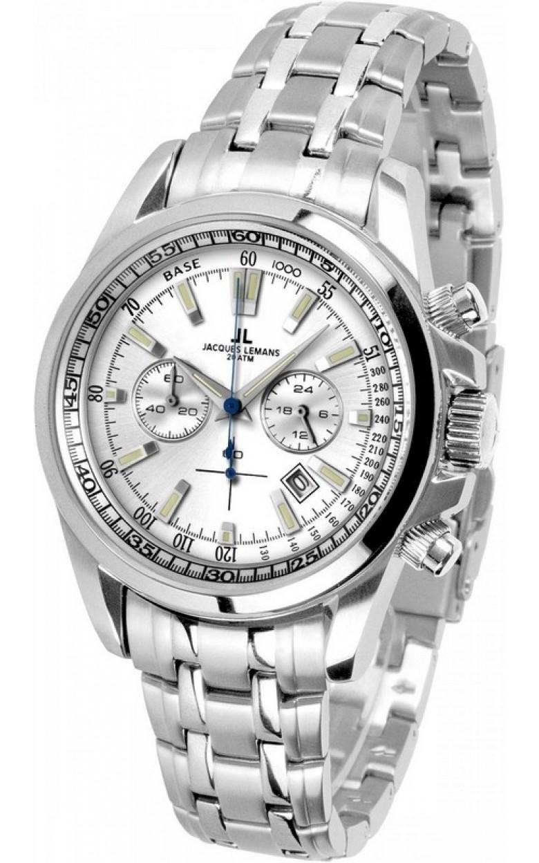 1-1117FN  водонепроницаемые кварцевые наручные часы Jacques Lemans для мужчин  1-1117FN