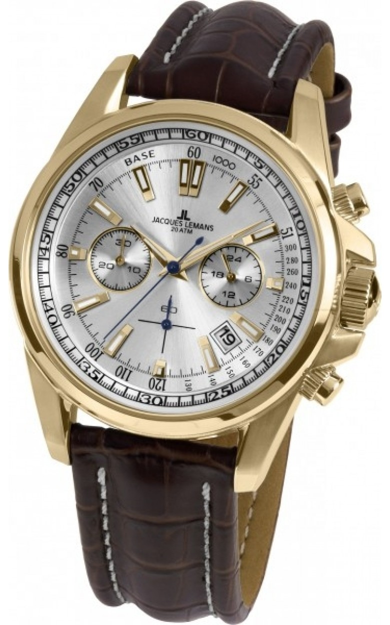 1-1117KN  водонепроницаемые кварцевые наручные часы Jacques Lemans для мужчин  1-1117KN