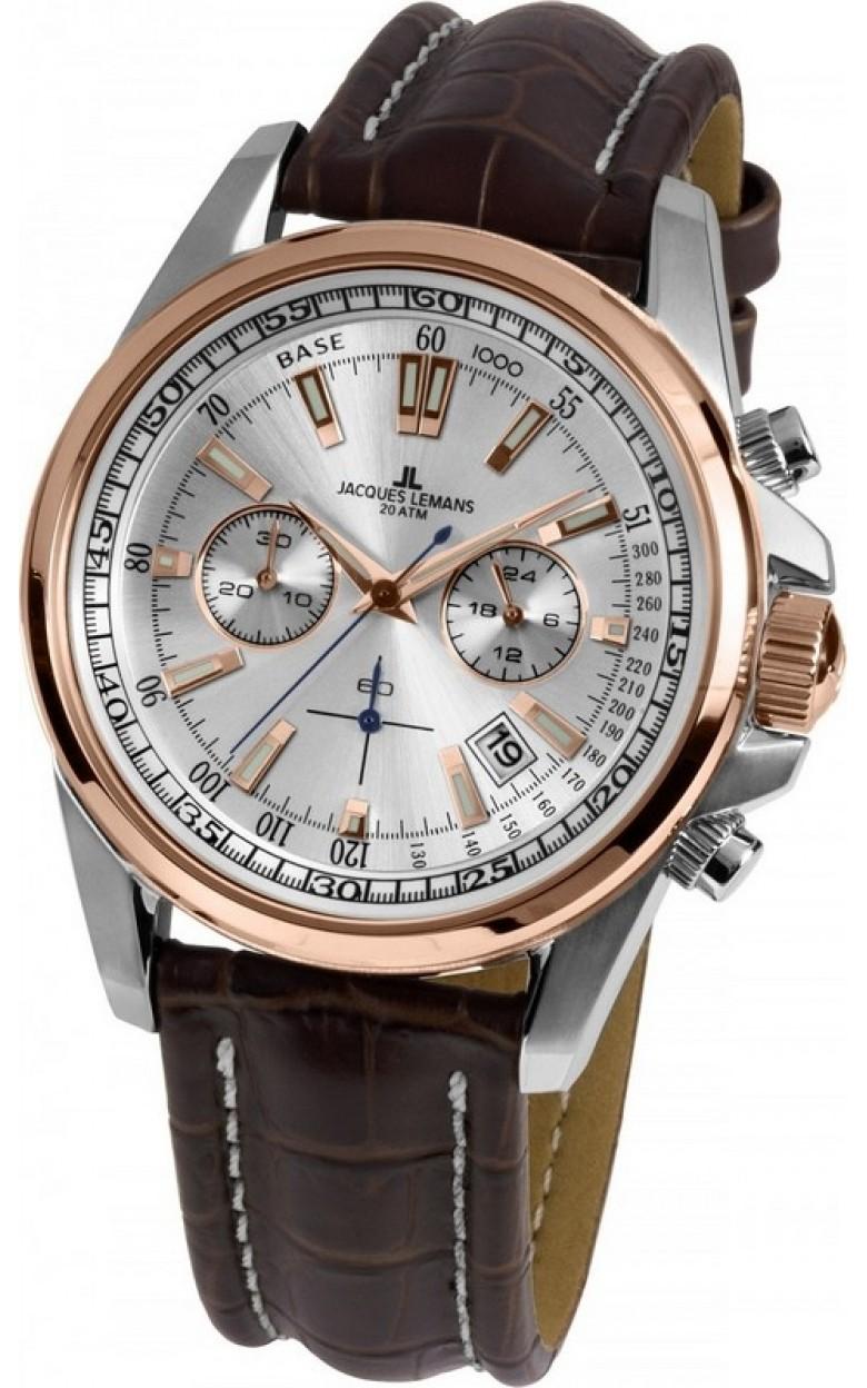 1-1117NN  водонепроницаемые кварцевые наручные часы Jacques Lemans для мужчин  1-1117NN