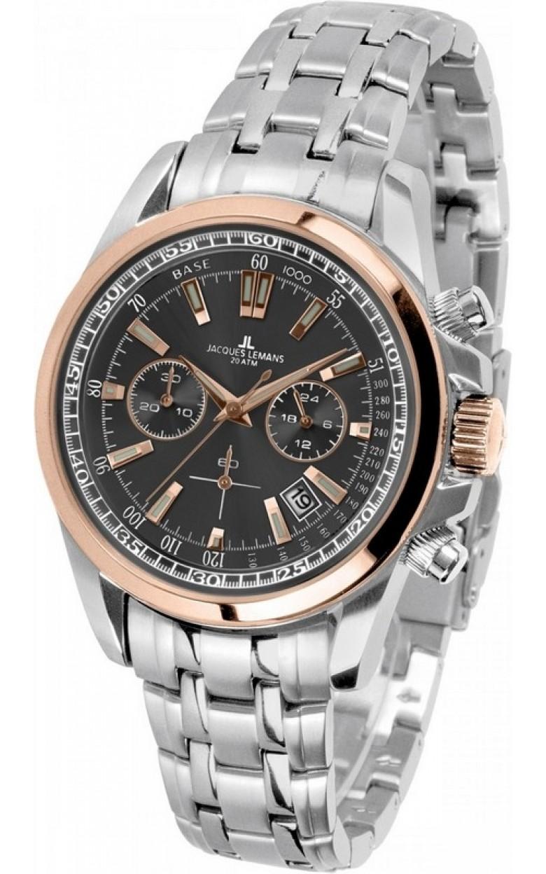 1-1117PN  водонепроницаемые кварцевые наручные часы Jacques Lemans для мужчин  1-1117PN