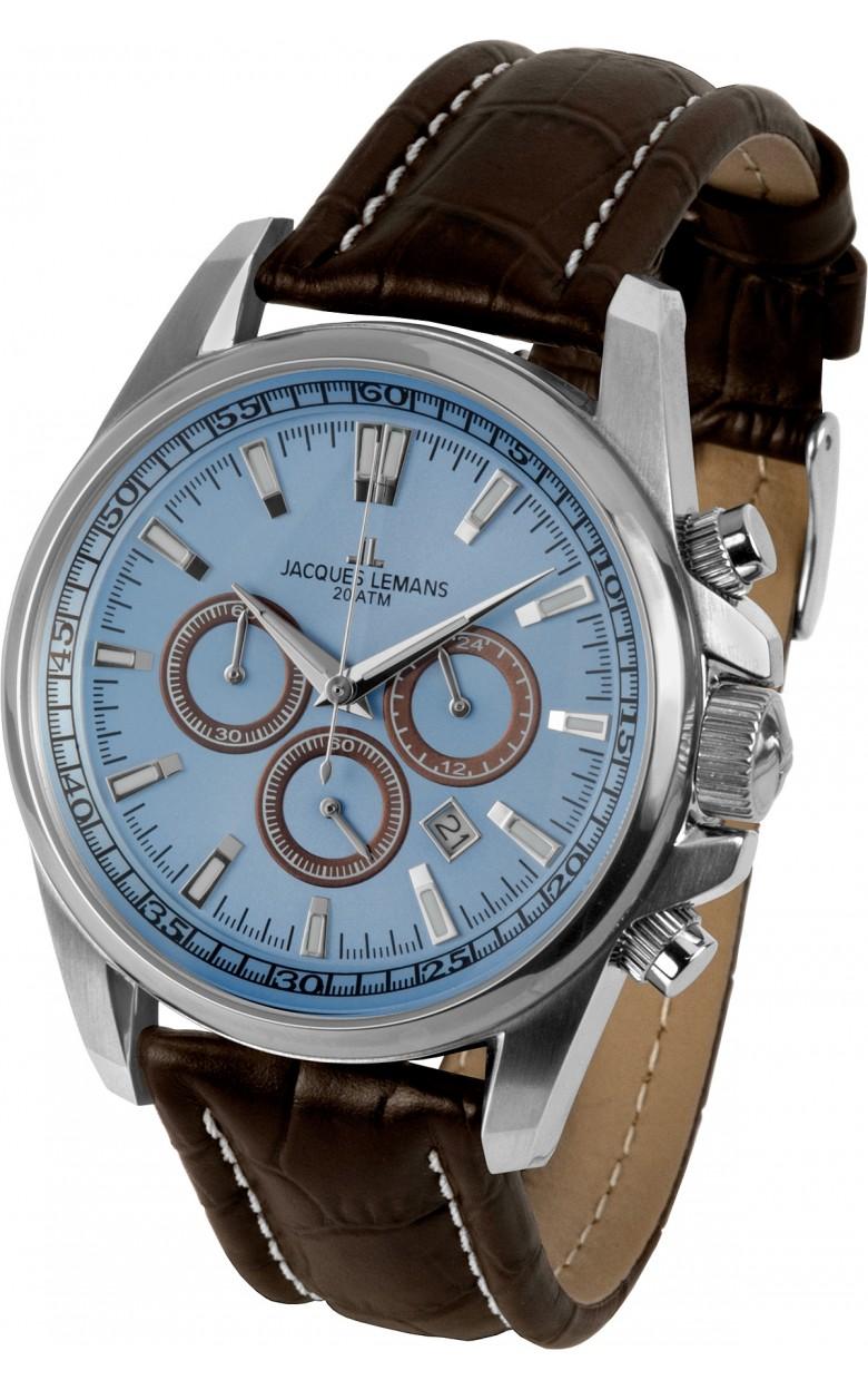 1-1117SN  водонепроницаемые кварцевые наручные часы Jacques Lemans для мужчин  1-1117SN