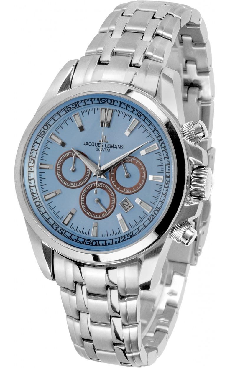 1-1117UN  водонепроницаемые кварцевые наручные часы Jacques Lemans для мужчин  1-1117UN
