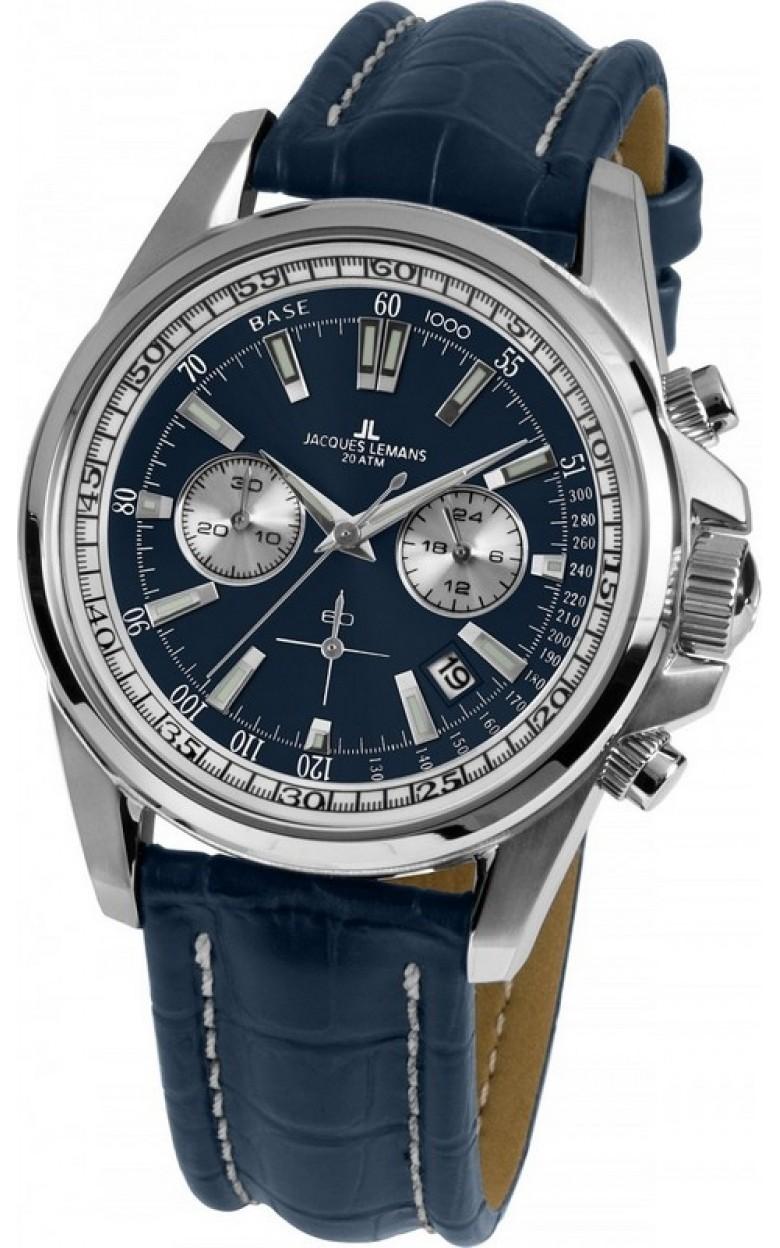 1-1117VN  водонепроницаемые мужские кварцевые наручные часы Jacques Lemans  1-1117VN