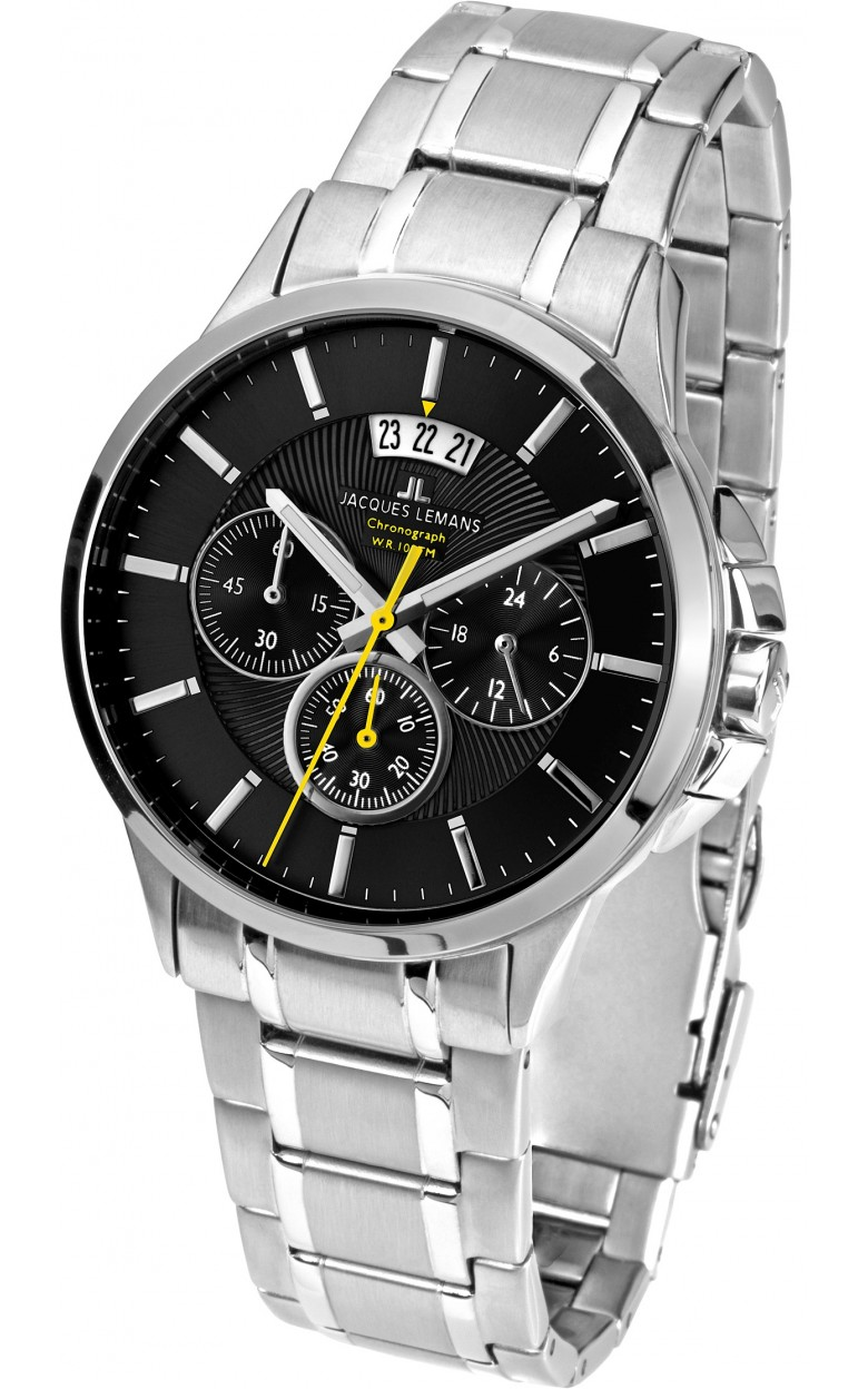 1-1542D  кварцевые с функциями хронографа часы Jacques Lemans  1-1542D