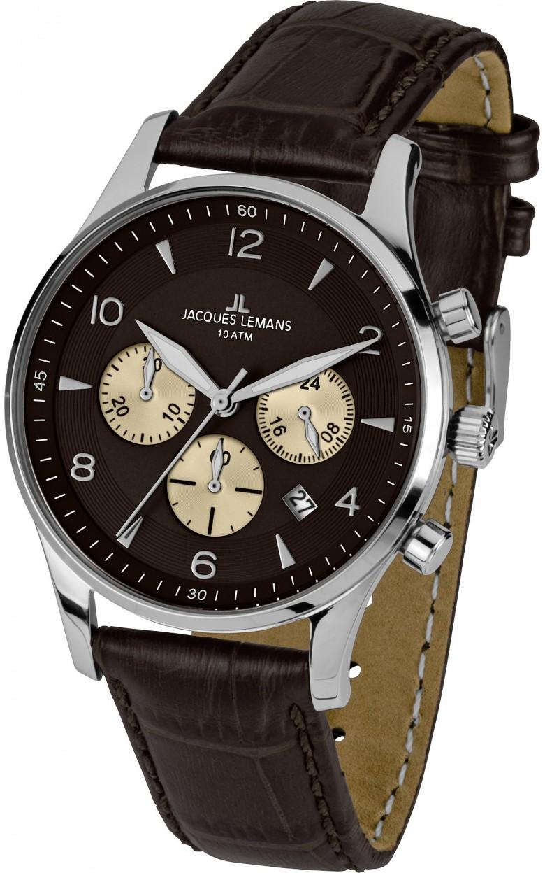 1-1654D  кварцевые часы Jacques Lemans  1-1654D