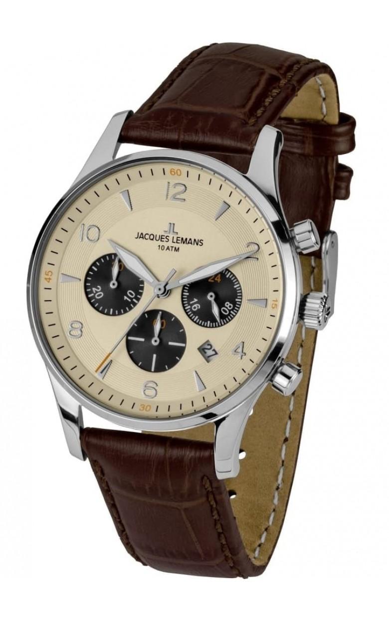 1-1654E  кварцевые наручные часы Jacques Lemans для мужчин  1-1654E