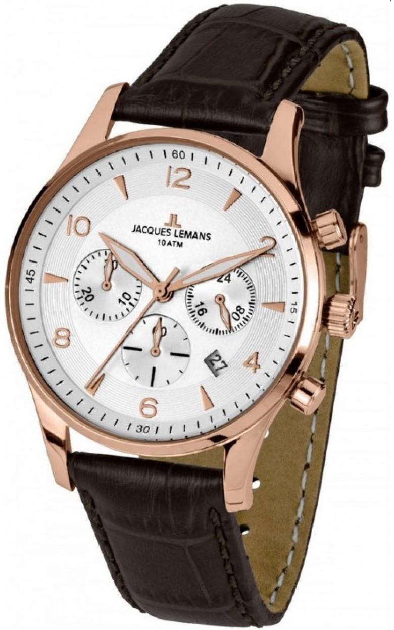 1-1654H  мужские кварцевые наручные часы Jacques Lemans  1-1654H