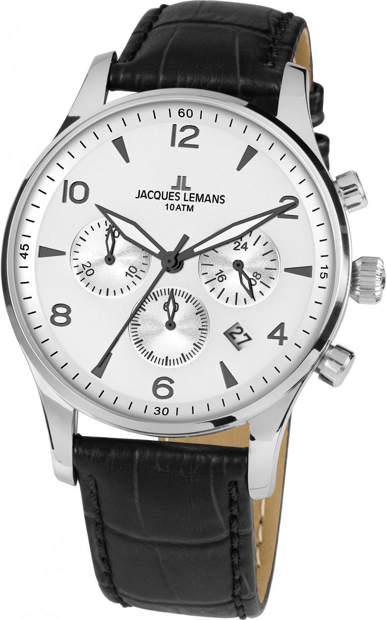 1-1654ZB  мужские кварцевые часы Jacques Lemans  1-1654ZB