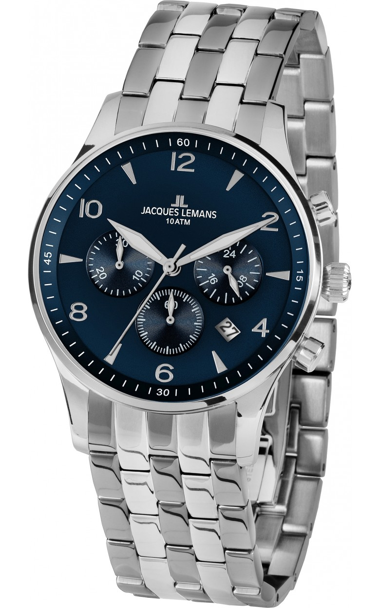 1-1654ZG  мужские кварцевые наручные часы Jacques Lemans  1-1654ZG