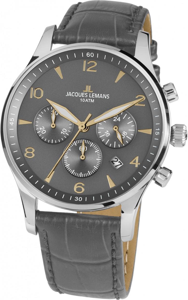 1-1654Zi  кварцевые наручные часы Jacques Lemans для мужчин  1-1654Zi