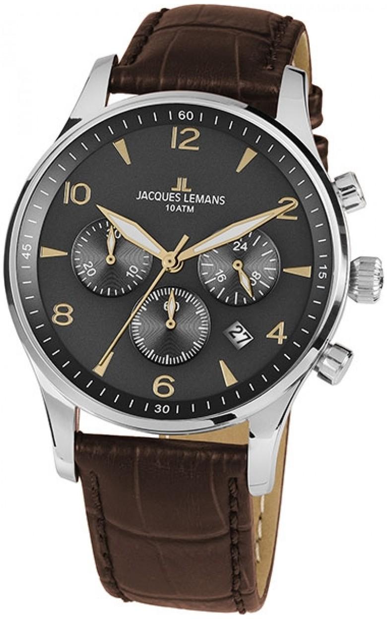 1-1654ZJ  мужские кварцевые часы Jacques Lemans  1-1654ZJ