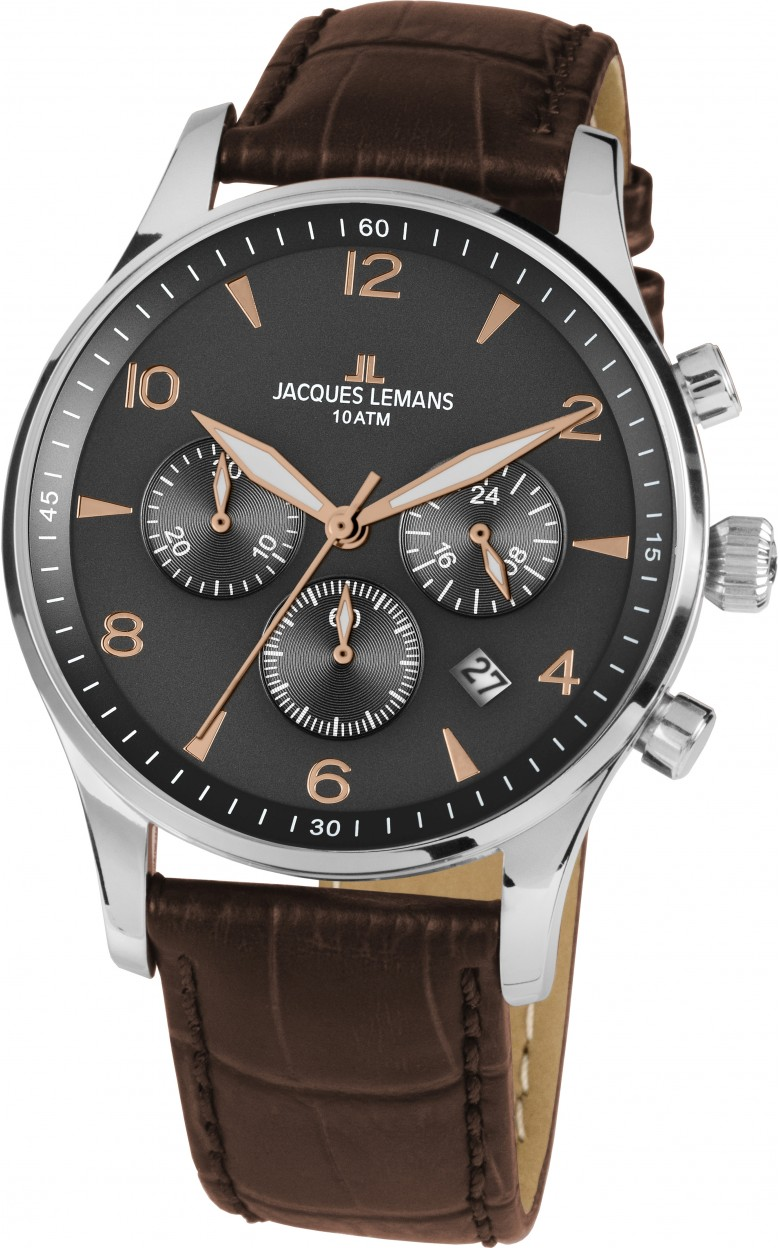 1-1654ZK  кварцевые наручные часы Jacques Lemans для мужчин  1-1654ZK