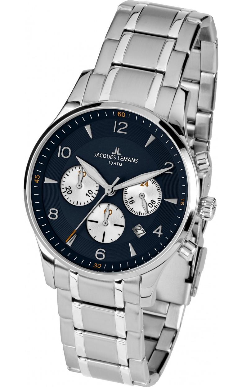 1-1654K  кварцевые наручные часы Jacques Lemans для мужчин  1-1654K