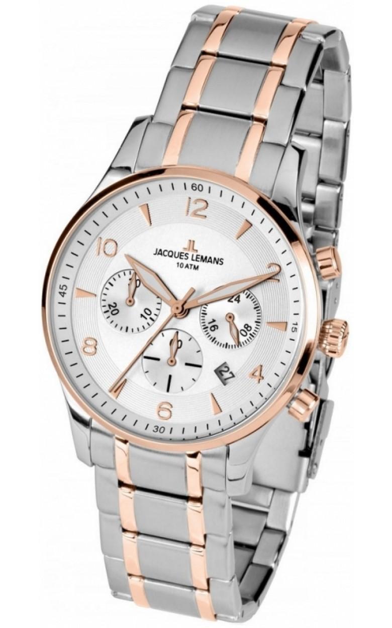 1-1654P  мужские кварцевые наручные часы Jacques Lemans  1-1654P