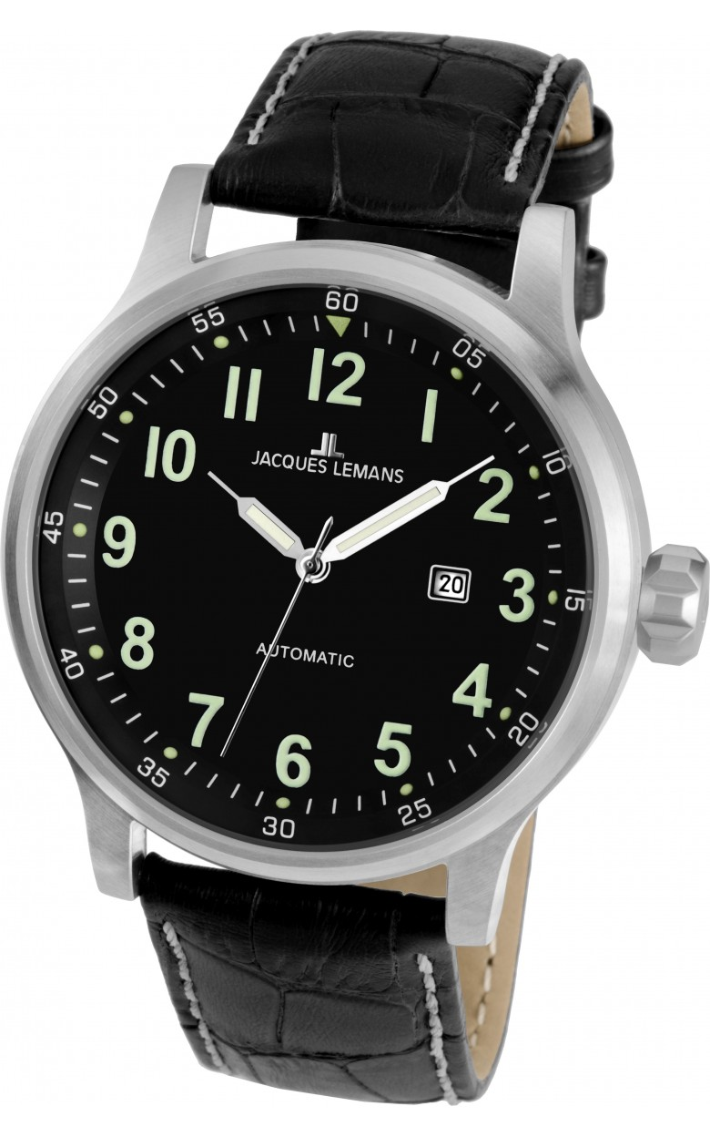 1-1723G  механические наручные часы Jacques Lemans для мужчин  1-1723G