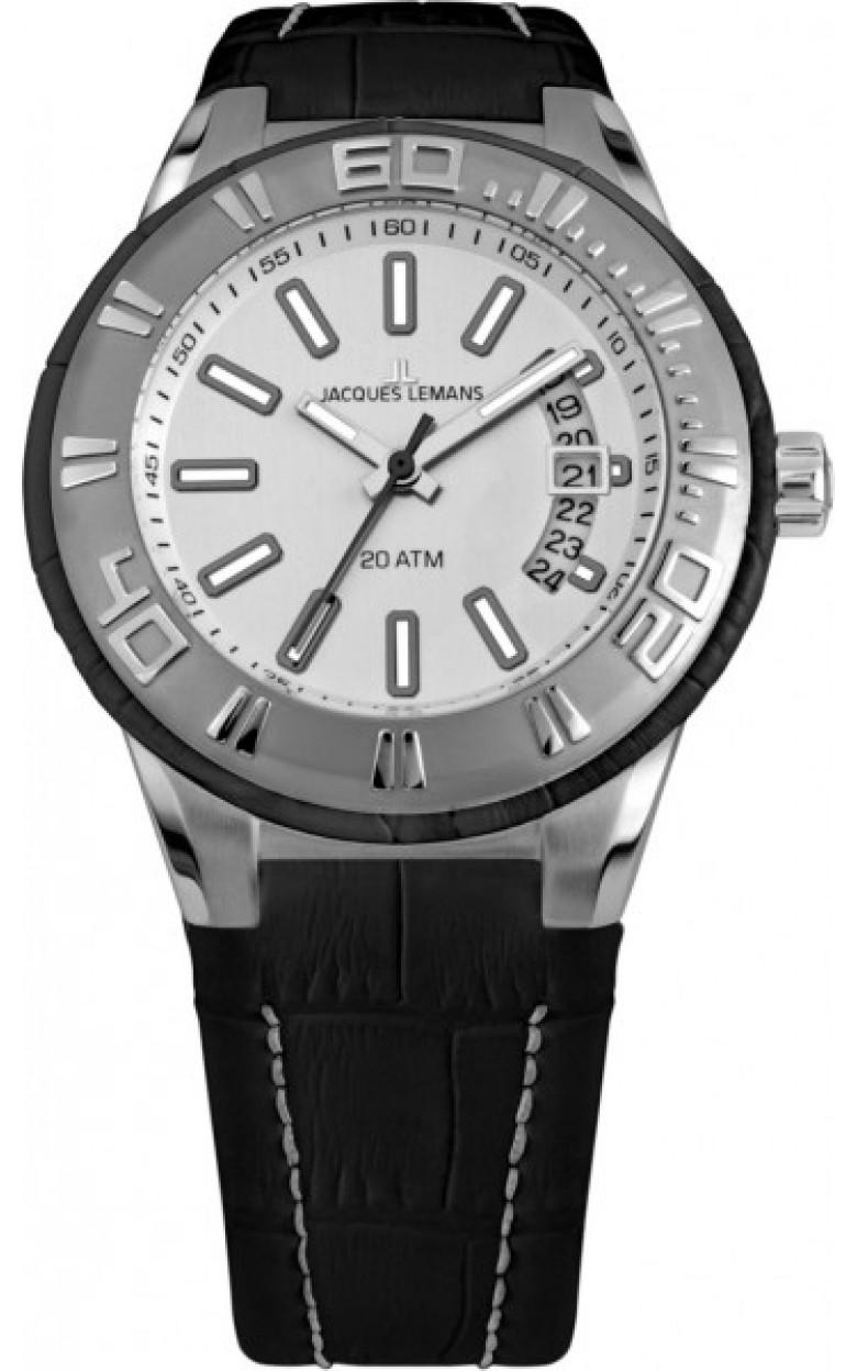 1-1770B  водонепроницаемые мужские кварцевые наручные часы Jacques Lemans  1-1770B